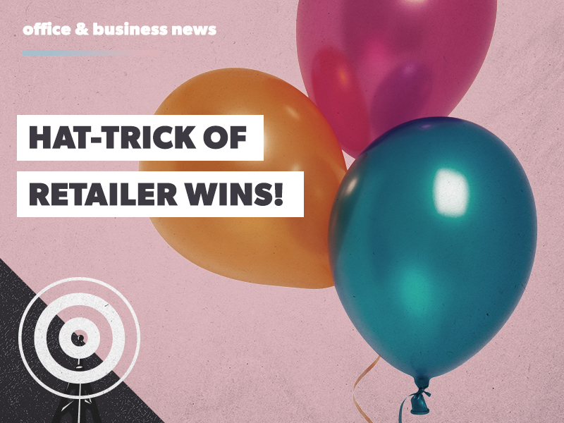 Hat-trick of retailer wins!