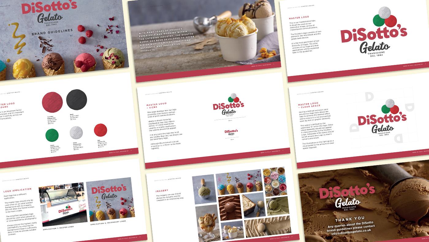 Disotto's Gelato brand guidelines