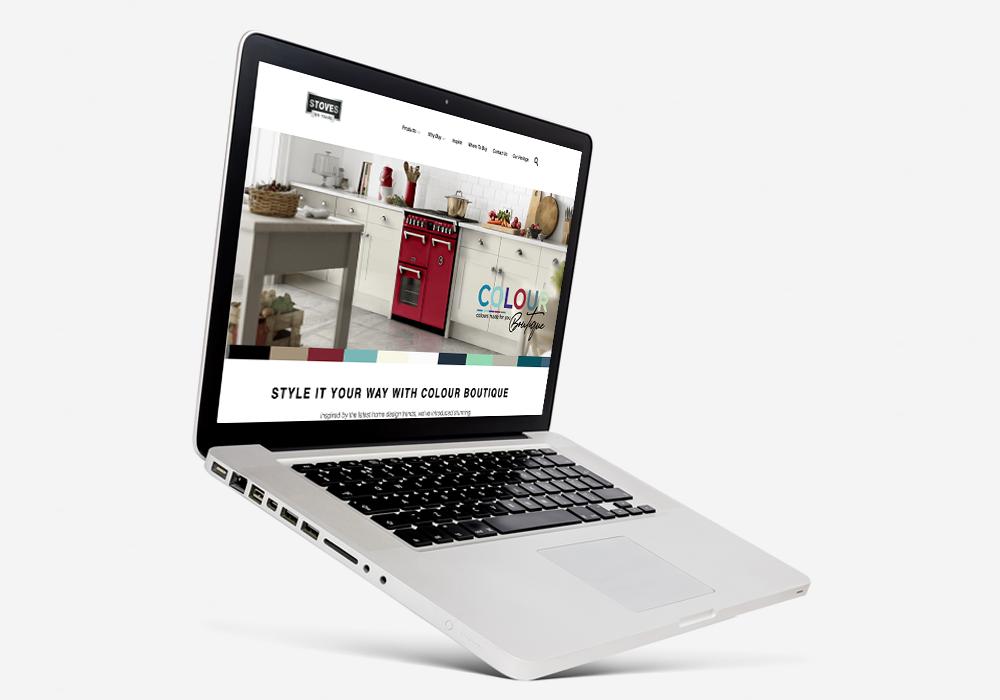 Colour Boutique website page mock up