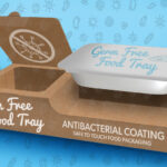Antibacterial food tray packaging